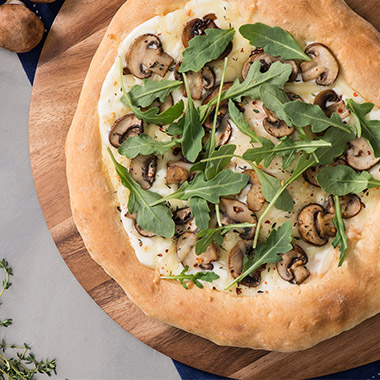 Balsamic Mushroom and White Cheddar Pizza