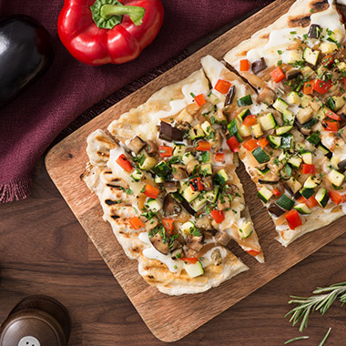 Caramelized Onion and Vegetable Flatbread