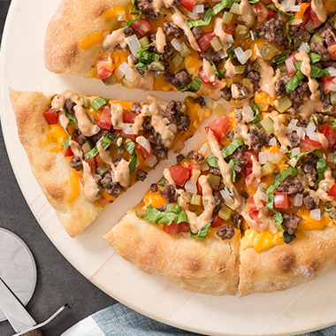 Smoky Bacon Cheeseburger Pizza